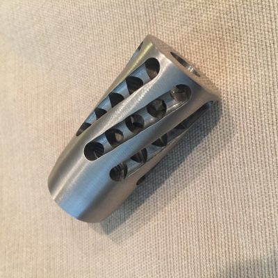 Spiral Fluted 30 Cal Muzzle Brake