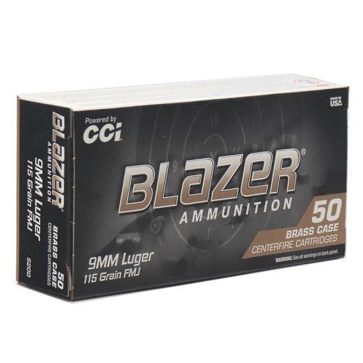 Blazer Brass 9mm 115 Grain FMJ
